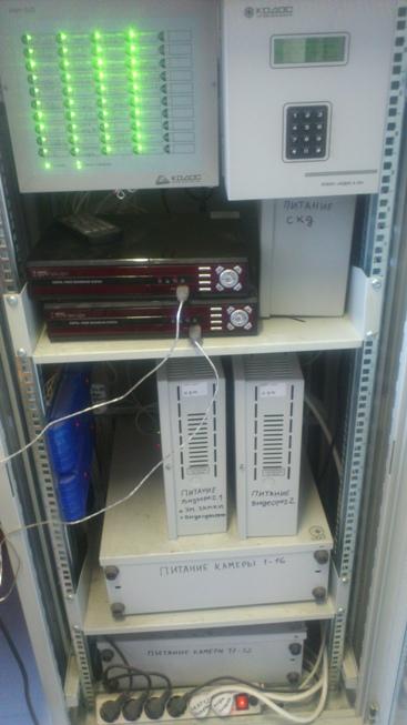 Система видеонаблюдения с пожарной сигнализацией